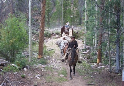 A wilderness adventure scene you will experience in person on our horseback riding trips